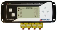 OctTemp2000 - 8 Channel Thermocouple Temperature Data Logger with LCD (Wall mounted power adapter included)
