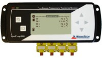 QuadTemp2000 - 4 Channel Thermocouple Temperature Data Logger with LCD (Wall mounted power adapter included)