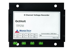 OctVolt-15V - Stand Alone, Battery Powered, Eight Channel, Low Level DC Voltage Data Logger, 0 - 15V