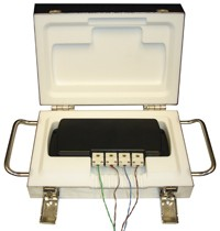 QuadThermoVault - 4 channel, Oven Temperature Data Logger with QuadTemp and external thermocouple probes