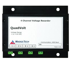 QuadVolt-15V - Stand alone, Battery Powered, Four Channel, Low Level DC Voltage Data Logger 0 - 15V