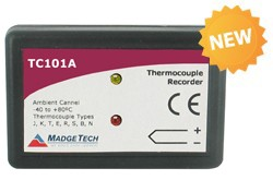 TC101A - Thermocouple based temperature data logger with miniplug thermocouple connection