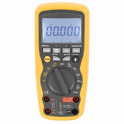 Digital Multimeter IP67 CAT IV with true RMS, 40,000 Count and Meterbox Smartphone App - QM-1576