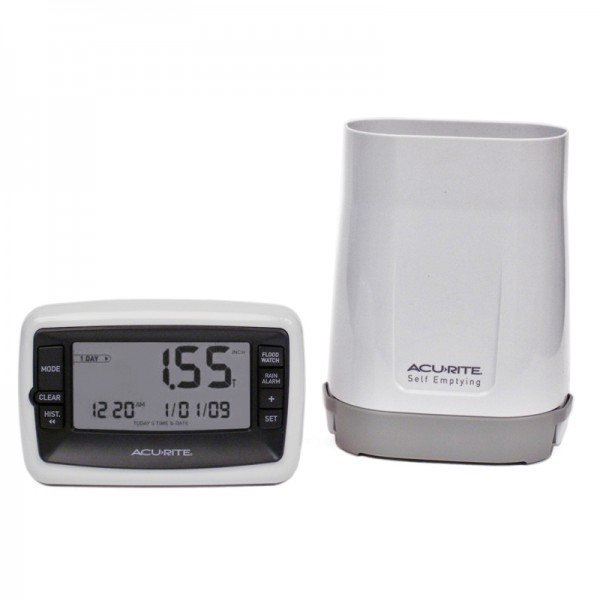 Digital Rain Gauge with wireless self-emptying Rain Collector - 00899