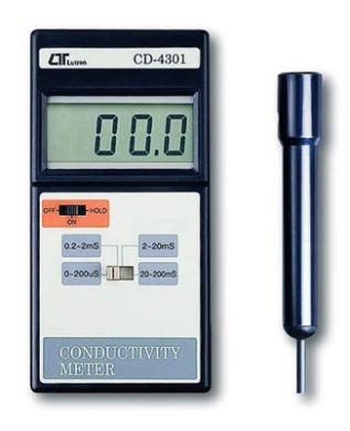 Digital Conductivity Meter : Digital conductivity meter with display cd