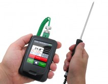 Thermometer Data Logger, Touch Screen, Probe - EL-EnviroPad-TC