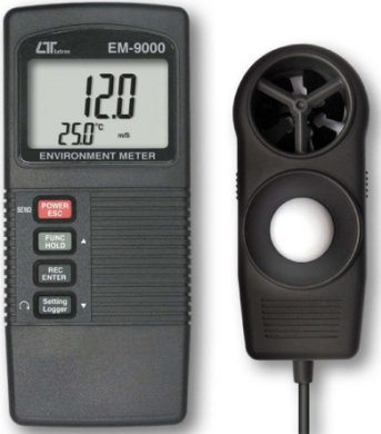 EM-9000 - Anemometer, Light meter, (Sound level meter, optional adaptor)