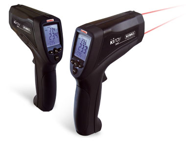 KIRAY300 - Kimo Infra Red Thermometer (50 to 1 Ratio) with Dual Laser Beam (-50C to 1850C) and K thermocouple probe
