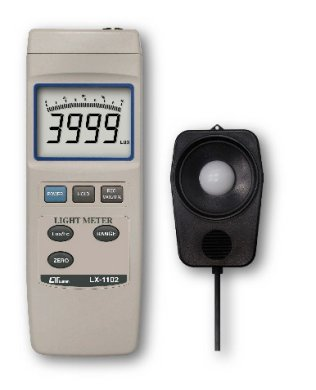 LX-1102 - Light Meter, Bar Graph Lcd, 5 Ranges