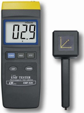 Three Axis Handheld Electromagnetic Field (EMF) Tester - EMF-828