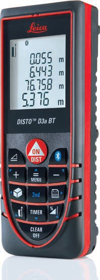 Laser Distance Meter with Bluetooth - Leica DISTO D3aBT