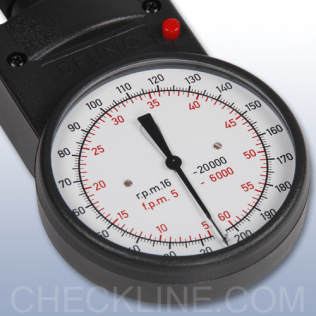 MT-200 Mechanical Hand-Held Tachometer, complete kit - DEUMO S (Feet/Min version)