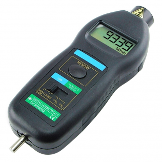 2 in1 Digital Contact And Non-Contact Tachometer