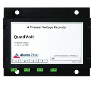 Four Channel, Low Level Dc Voltage Data Logger 0 - 15V
