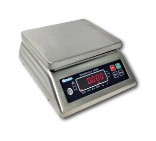 SS-IP68-30 - 30kg Water Proof IP68 Stainless Steel Table Scale