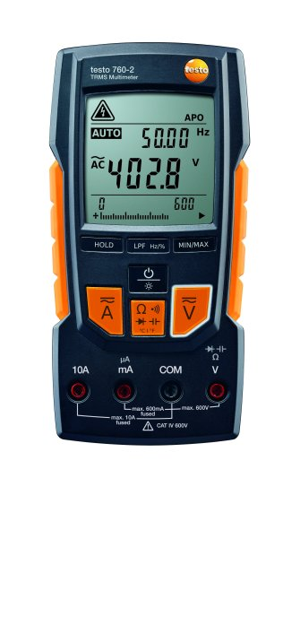 Testo 760-2 digital multimeter with auto test, capacitance, TRMS and low pass filter