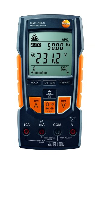 Testo 760-3 digital multimeter with auto-test, capacitance, TRMS, low pass filter and 1000v
