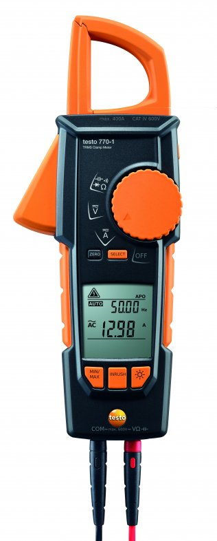 testo 770-1 clamp meter with digital multimeter and TRMS inrush