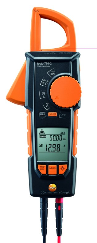Testo 770-2 clamp meter with built in multimeter TRMS, inrush and temperature measurement