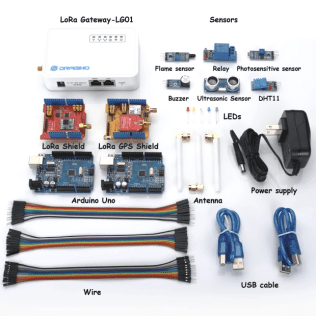 LoRa IOT Starter Kit. Includes 2x ARDUINO UNO (AU915MHZ - AS923MHZ)