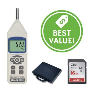 Type 1 Sound Level Meter and Data Logger (with Traceable Certificate & SD Card Included - Valued at $129+GST) - IC-SL4033SD
