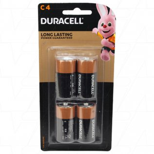 Duracell Coppertop Alkaline C - 4 Pieces