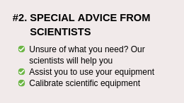 Special Advice from Scientists